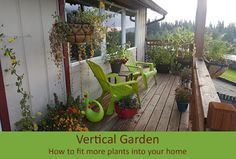 Military Mama Musings: Vertical Garden - How to squeeze just a few more plants into the bedroom!