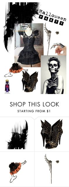 """""""halloween witchling"""" by stella-de-luna-fashion ❤ liked on Polyvore featuring Roberto Cavalli, Cristina Ortiz and Disney"""