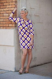 Chrissy 3/4 Sleeve Shift Dress By Tracy Negoshian