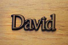 """Aluminium Schriftzug """"David"""""""