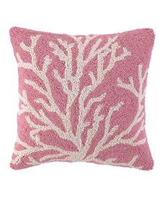 Pink Sea Reef Throw Pillow by Peking Handicraft #zulily #zulilyfinds