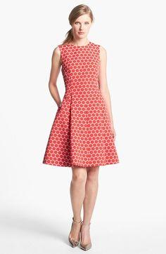kate spade new york 'cory' dot jacquard fit & flare dress available at #Nordstrom // polka dots!