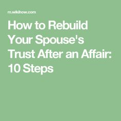 How to regain trust after cheating in a relationship