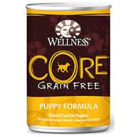 This formula provides protein-focused nutrition that will serve your puppy well, both inside and out. Wellness CORE Grain Free Puppy Formula Canned Dog Food is a complete and balanced meal for everyday feeding.