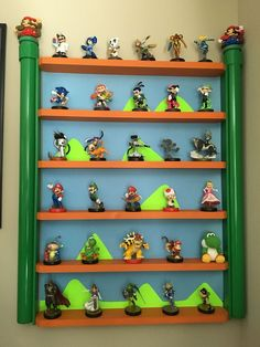 Handmade Amiibo shelf