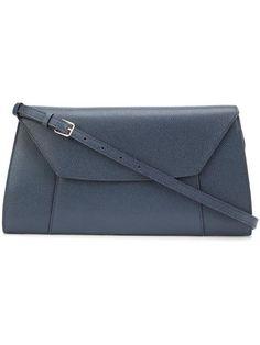 VALEXTRA trapeze shoulder bag. #valextra #bags #shoulder bags #leather #
