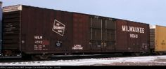 MILW 4743          Date: 12/11/1991 Location: Toronto,  CA Country Flag Views: 320 Collection Of:   Merrill Price Rolling Stock: MILW 4...