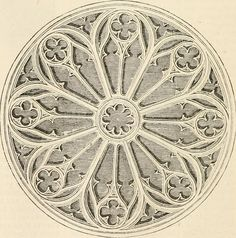 Rose-window in the Church ofSt. Croix, Orleans https://farm6.staticflickr.com/5554/14743235674_1d130c368a_b.jpg