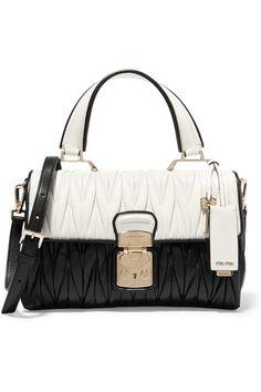 MIU MIU Medium Crystal Embellished Quilted Velvet Shoulder Bag . 2c543a868562f