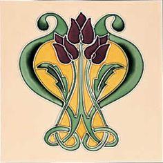 Fireplace Products a premium UK outlet of stoves, fires, fireplaces and chimney liners. Antique Tiles, Vintage Tile, Antique Art, Art Nouveau Tiles, Art Nouveau Design, Design Art, Motifs Art Nouveau, Azulejos Art Nouveau, Jugendstil Design
