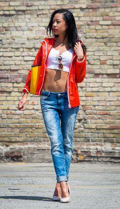 BlasianGurl, Victoria Kristine, Toronto Fashion Blogger, Boyfriend Jeans, Mavi, Distressed Jean, White Tee, Street Style, Summer Casual