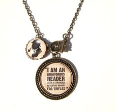 Sherlock Necklace Sherlock Holmes Necklace Sherlock Quote Necklace Literary Necklace on Etsy, Sherlock Holmes Quotes, Sherlock Bbc, Detective, Jewelry Quotes, Book Jewelry, Gifts For Readers, Literary Quotes, Book Lovers Gifts, Necklace Designs