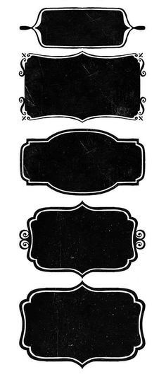Chalkboard Free Printable Labels and Toppers.