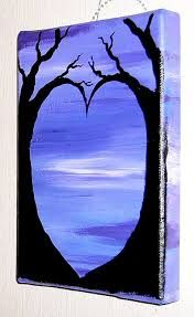 canvas painting in purples - Google Search
