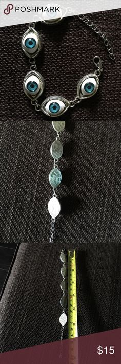 Silver evil eye bracelet nwot Silver evil eye bracelet nwot. Jewelry Bracelets