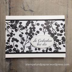 Stampin Up, DSP Blütenfantasie,  Trauerkarte, Blumen von Herzen