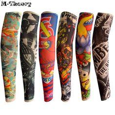 ab903fc1dd M-teoria 6 szt. Rozmiar Kid Nylon 3D Rękaw Tatuaż Ramię Pończochy Leginsy  Moda