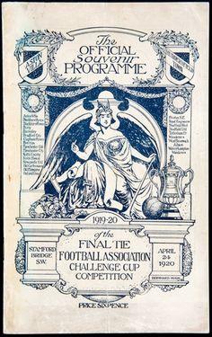 Huddersfield v Aston Villa 1920 FA Cup final programme Football Medals, Football Program, Final S, Fa Cup Final, Aston Villa Fc, Laws Of The Game, Huddersfield Town, Challenge Cup, Sir Alex Ferguson