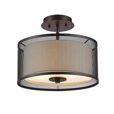 Shop for Chloe Transitional 2-light Oil Rubbed Bronze Flush Mount. Get free delivery at Overstock.com - Your Online Home Decor Shop! Get 5% in rewards with Club O! - 18722424