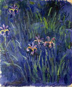 Claude Monet. Irises 2 (1917).