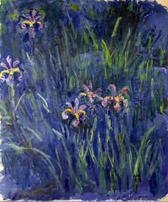 Claude Monet. Irises 2 (1917).