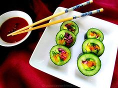 Would be great for appetisers Raw Vegan Recipes, Vegan Foods, Vegan Dishes, Vegan Vegetarian, Vegan Raw, Healthy Meals For Kids, Healthy Eating Recipes, Kids Meals, Sushi For Kids