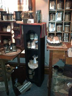 Antiques, Painted Pine, and Candles