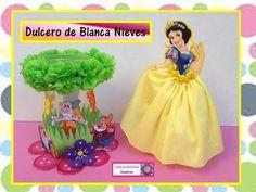 ♥♥Dulcero de Blanca nieves con botella de plástico-Creaciones mágicas♥♥ - YouTube