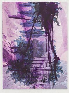 Walt Whitman III (Waterfall ), 2016. Pigmentdruck auf Kupferdruckpapier, 245.1 x 184.9 cm, 129.8 x 97.8 cm; © Julian Schnabel Studio