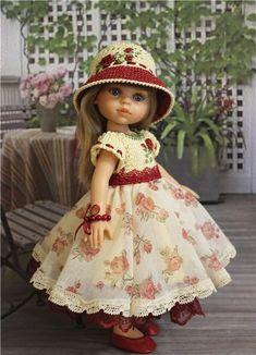 Роза красная.Платье на кукол 30 -33 см. / Одежда для кукол / Шопик. Продать купить куклу / Бэйбики. Куклы фото. Одежда для кукол