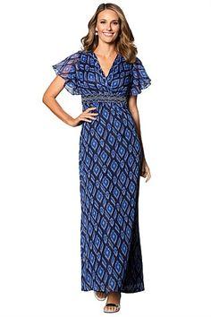 Grace Hill Dresses - Brands - Grace Hill Beaded Print Dress Dress Brands, Wrap Dress, Wrap Around Dress