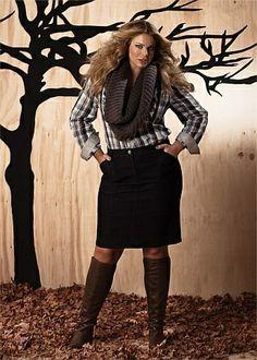 Plus Size Dorian Denim Skirt