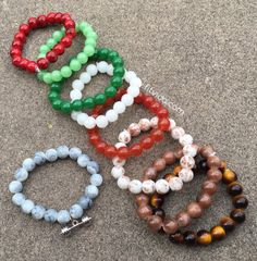 Tons of beaded bracelets to choose from add any fitness charm for only $7 www.fitvida.com #fitness #workout
