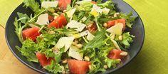 Vesimeloni-juustosalaatti | Alkuruoat | Reseptit – K-Ruoka Ketogenic Recipes, Ketogenic Diet, Diet Recipes, Vegan Recipes, Keto Results, Ketogenic Lifestyle, Keto Dinner, Cobb Salad, Salad Recipes