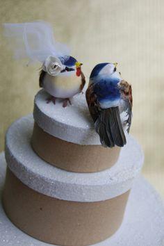 Bluebird Wedding Cake Topper Rustic Bride