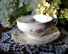 Winterling Fine Bone China Tea Cup and Saucer, Heritage Pattern, Gold Gilt, Germany