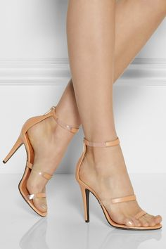 Tamara Mellon | Frontline leather and PVC sandals | NET-A-PORTER.COM