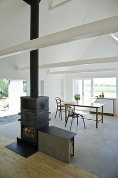 Swedish farm house turned summer house with wood stove