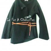 Veste Gilet en laine bouillie par Le Pot A Chatouilles - thread&needles