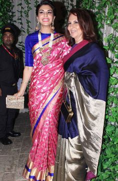 Amitabh Bachchan& Diwali Bash: SRK, Katrina, Ranbir, Bipasha party hard with Aishwarya-Abhishek South Indian Sarees, South Indian Bride, Indian Bridal, Indian Attire, Indian Wear, Indian Style, Indian Ethnic, Indian Dresses, Indian Outfits