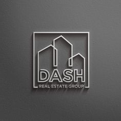 Dash Real Estate Group Logo Dark neutrals,I like that it is a bit urban, and customized,I like the custom TH - I do not like the text of the company name,If like the design of the D - could work something like this for D for Dash,I like that it's custom - the legs connect to the letters Construction by CostinLogopus #realestatebranding