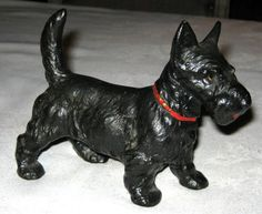 hubley antque scotty dog cast iron doorstop