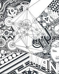ArtRescape -   흐름 All , pen, pen art, line , man, pattern