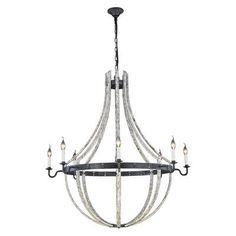 Elegant Lighting Woodland 8 Llight Candle-Style Chandelier