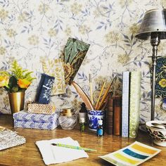 """""""Pretty swatches from the Victorian master William Morris are inspiring our August issue cover shoot. Out on 25th June. Don't miss it! #antiques…"""""""