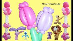 93  Ballon Blume, Balloon flower, Modellierballon Ballonfiguren
