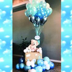 Teddy bear balloon baby shower decoration it's a boy Teddybär Ballon Babyparty Dekoration es ist ein Baby Shower Balloon Decorations, Boy Baby Shower Themes, Baby Shower Balloons, Baby Shower Centerpieces, Girl Shower, Elephant Decorations, Boy Babyshower Decorations, Baby Shower Boys, Boy Baby Showers