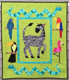 Silly Safari Paper Pieced Pattern | Craftsy