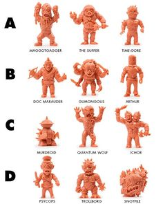 Golrelords Flesh Color -Approximately 2 in tall - Available in 4 packs in sets of 3 figures on a blister card or as a package deal of all 4 packs.See pictures for details. - 12 total figures - Backing card art by Andrei Bouzikov Muscle Men Toy, Mighty Power Rangers, Weird Toys, Monster Toys, Old School Toys, Japanese Toys, Cosplay Anime, Vinyl Toys, Childhood Toys