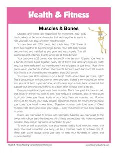 This Reading Comprehension Worksheet - Muscles and Bones is for teaching reading comprehension. Use this reading comprehension story to teach reading comprehension. Reading Comprehension Worksheets, Reading Fluency, Reading Passages, Reading Skills, Comprehension Strategies, Reading Response, Academic Essay Writing, English Writing Skills, English Reading